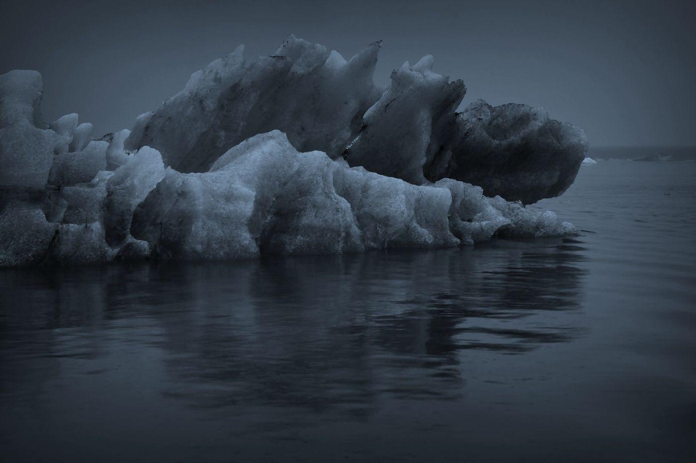 冰岛冰川泻湖(Glacier Lagoon), 湖面上冰川_图1-12