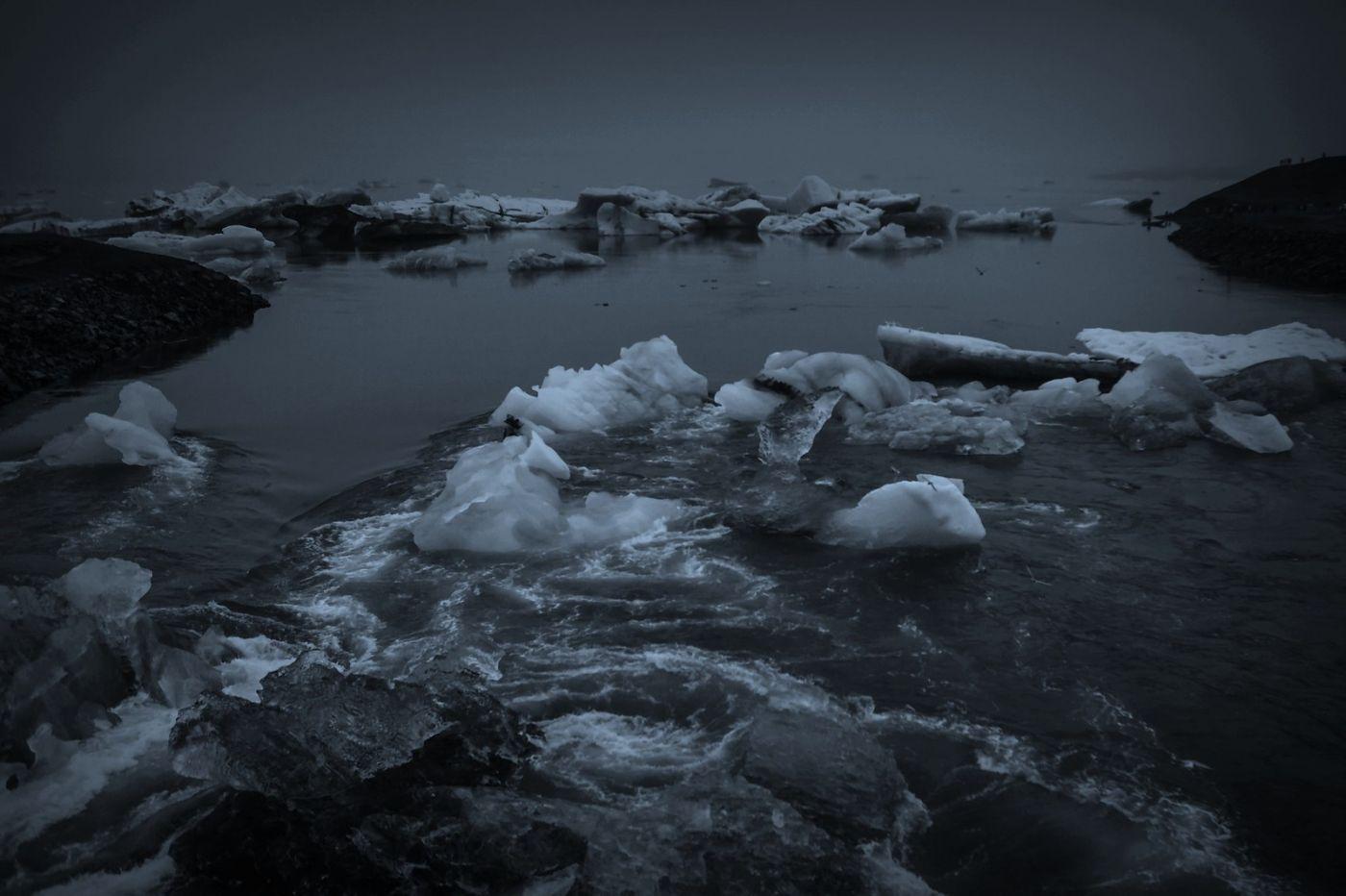 冰岛冰川泻湖(Glacier Lagoon), 湖面上冰川_图1-7