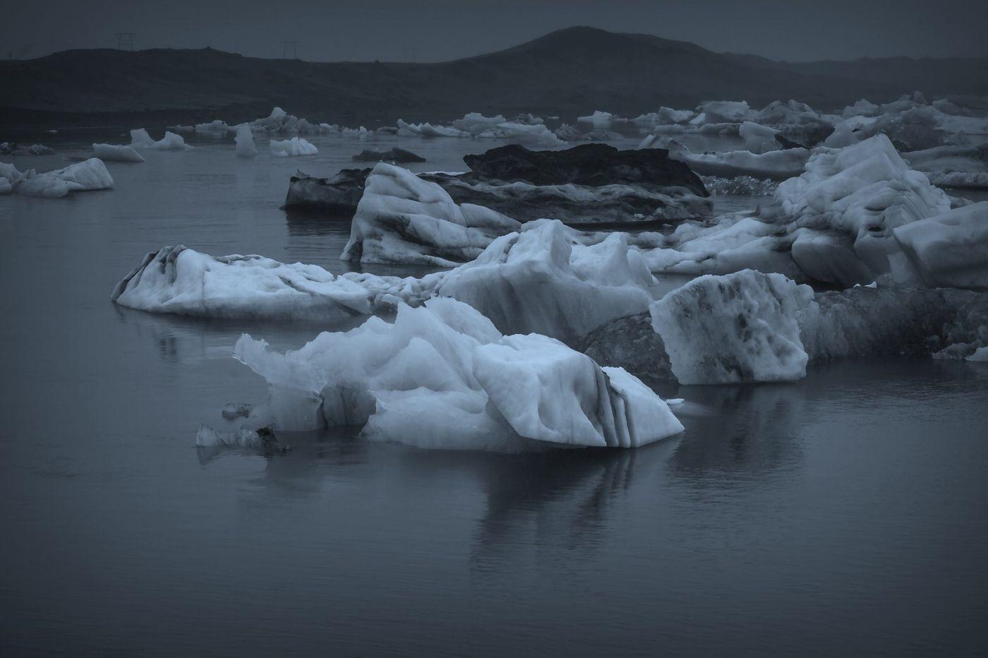 冰岛冰川泻湖(Glacier Lagoon), 湖面上冰川_图1-6