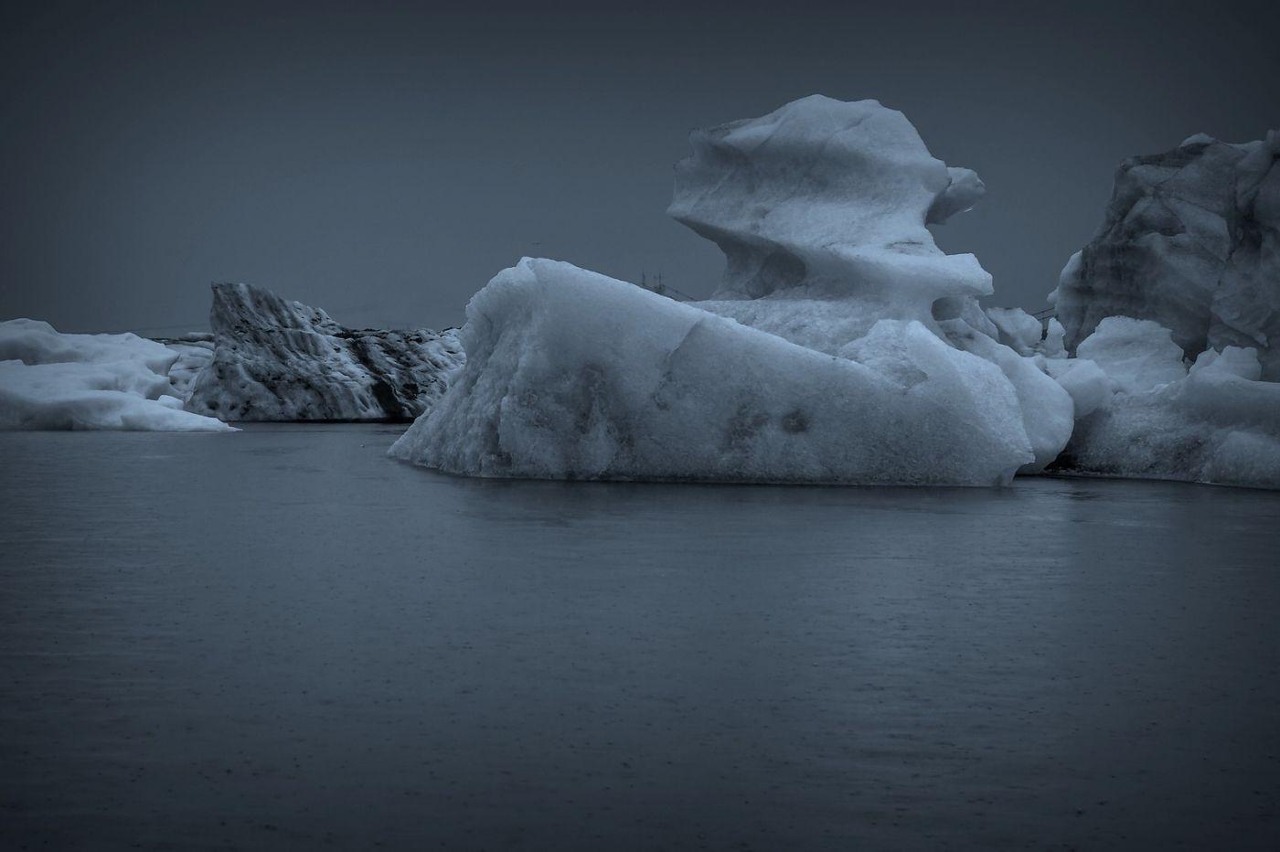 冰岛冰川泻湖(Glacier Lagoon), 湖面上冰川_图1-1