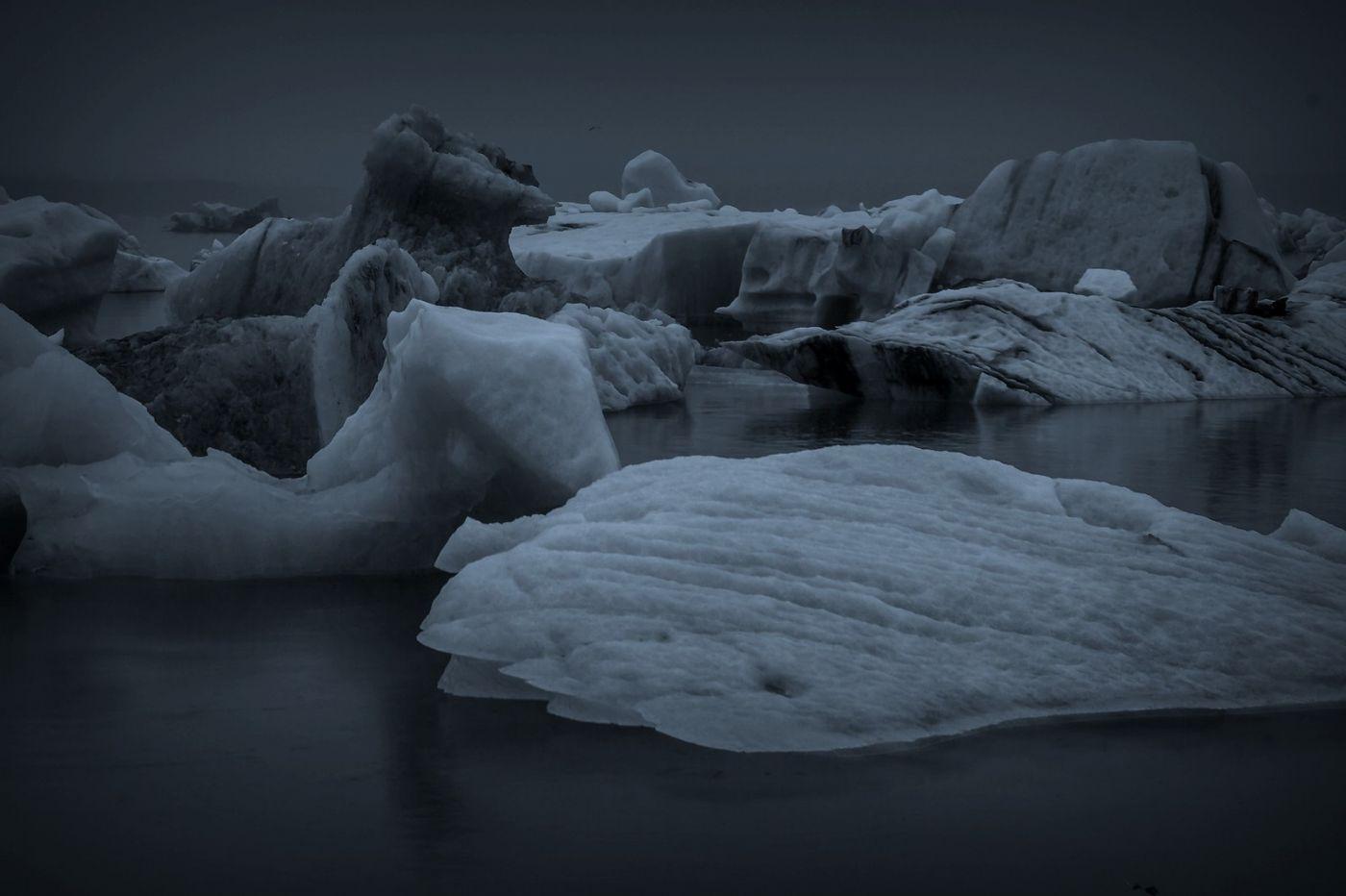 冰岛冰川泻湖(Glacier Lagoon), 湖面上冰川_图1-4