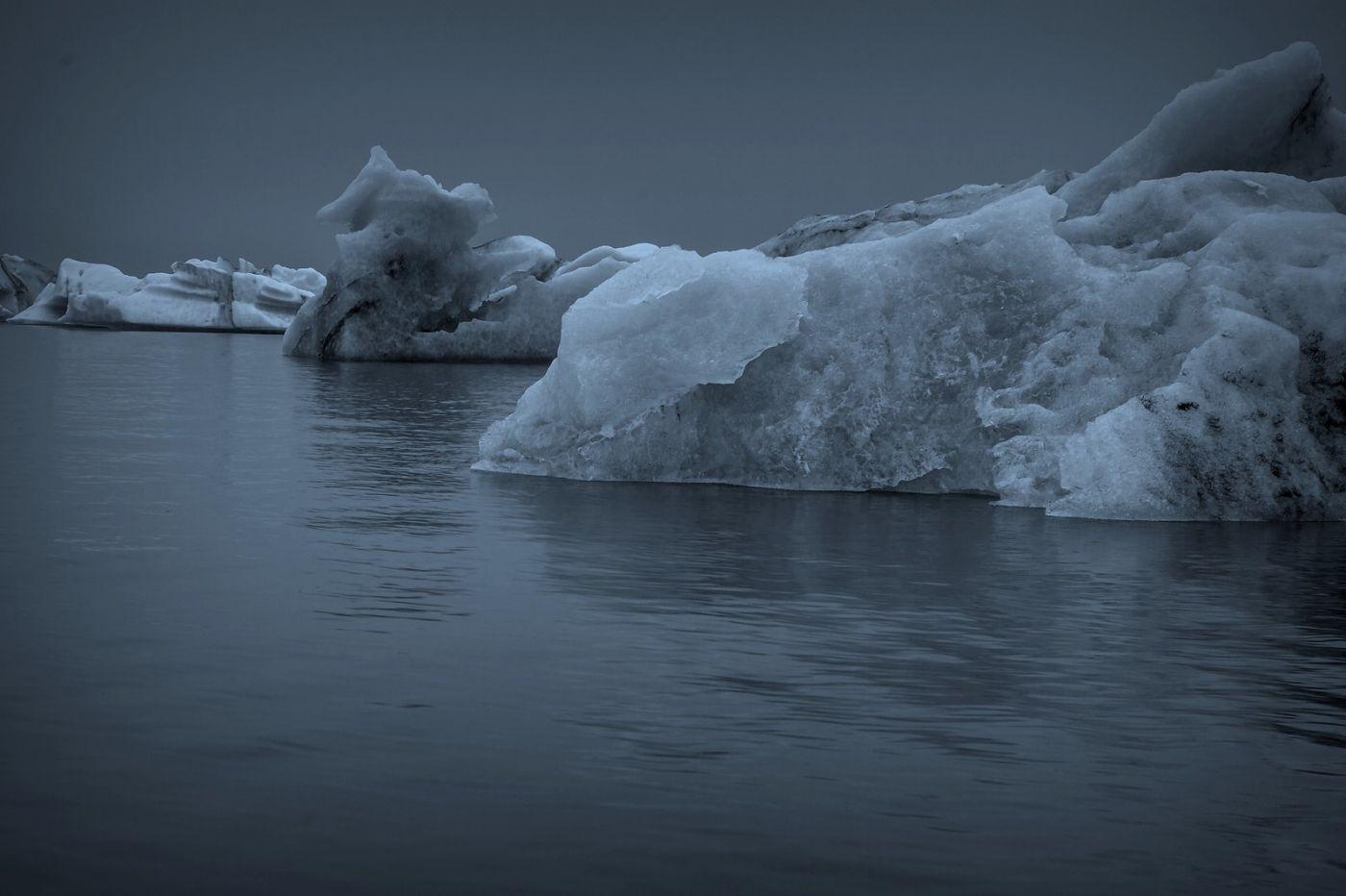 冰岛冰川泻湖(Glacier Lagoon), 湖面上冰川_图1-15