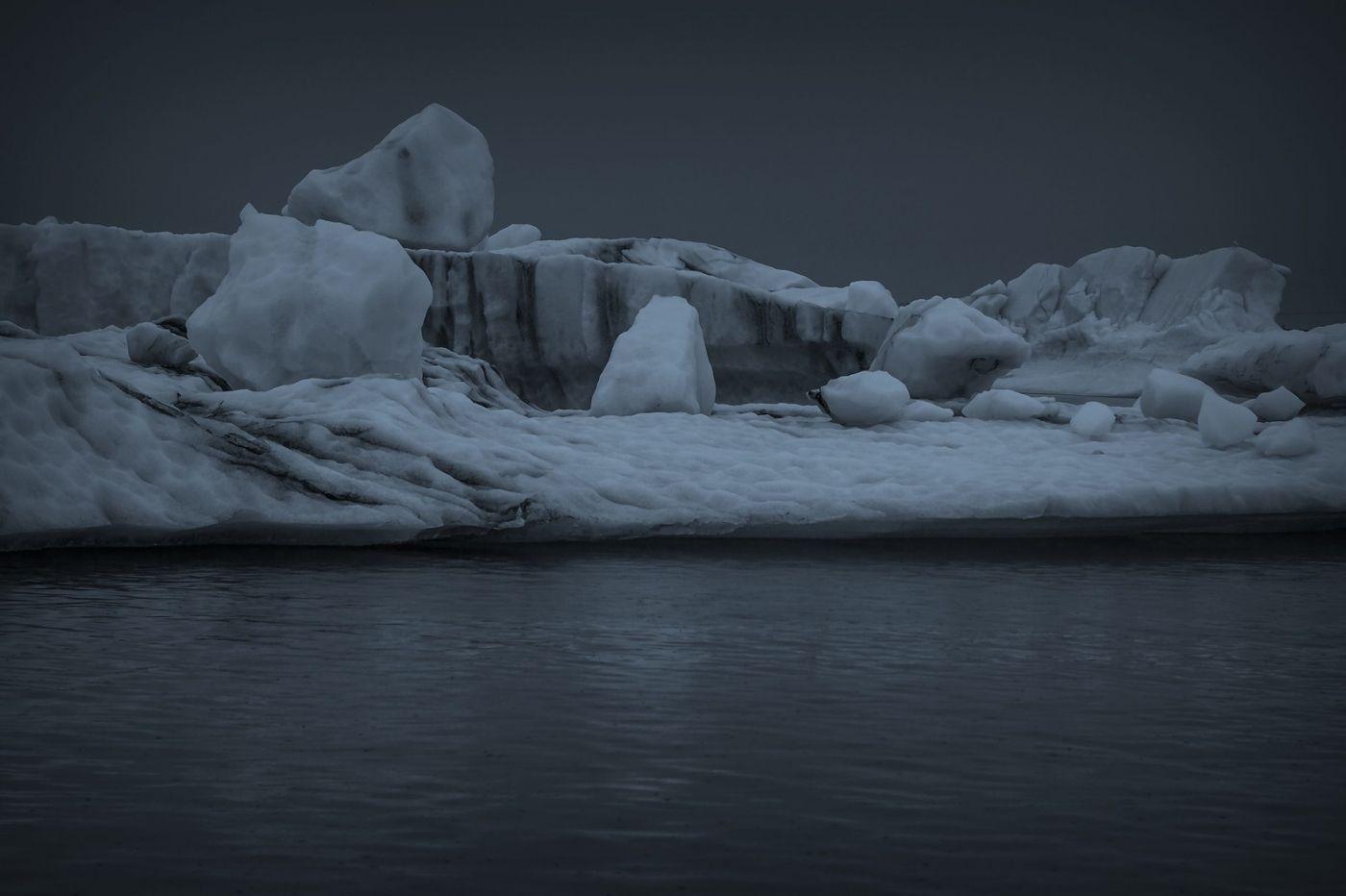冰岛冰川泻湖(Glacier Lagoon), 湖面上冰川_图1-13