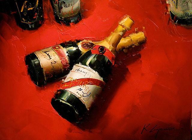 Kal Gajoum油画---酒.船_图1-1
