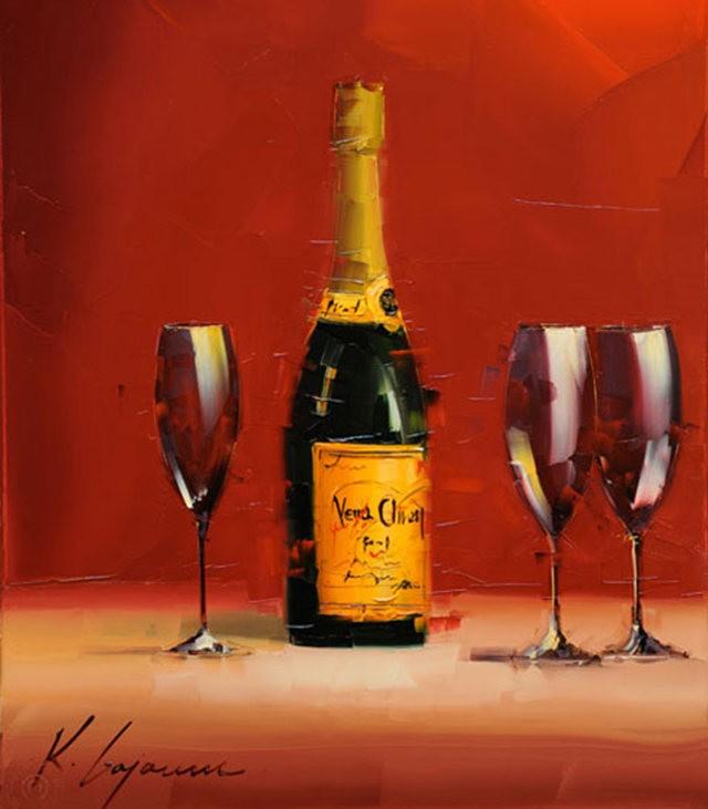 Kal Gajoum油画---酒.船_图1-2