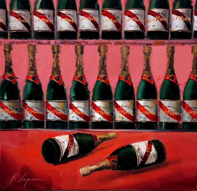 Kal Gajoum油画---酒.船_图1-3