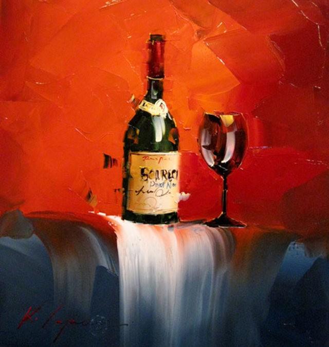 Kal Gajoum油画---酒.船_图1-4