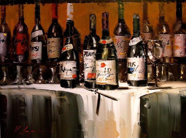 Kal Gajoum油画---酒.船_图1-5