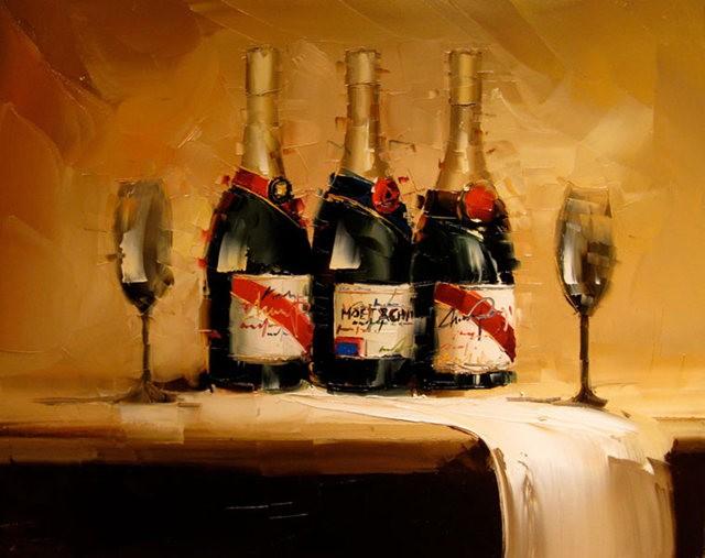 Kal Gajoum油画---酒.船_图1-6