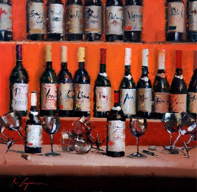 Kal Gajoum油画---酒.船_图1-7