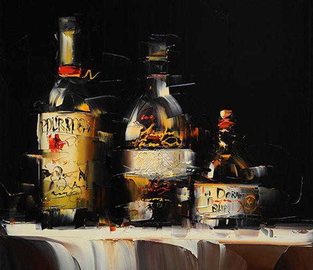 Kal Gajoum油画---酒.船_图1-8