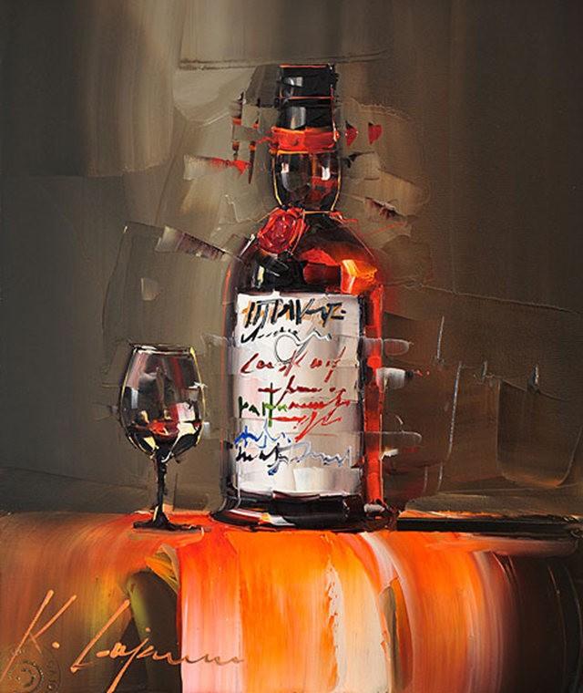 Kal Gajoum油画---酒.船_图1-9