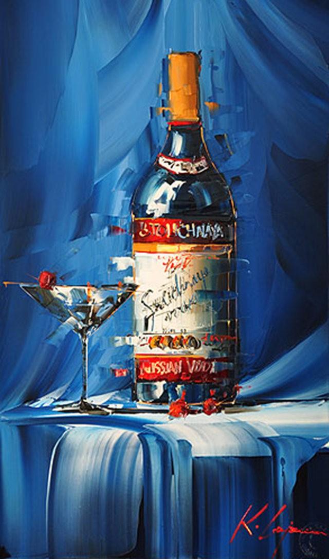 Kal Gajoum油画---酒.船_图1-10