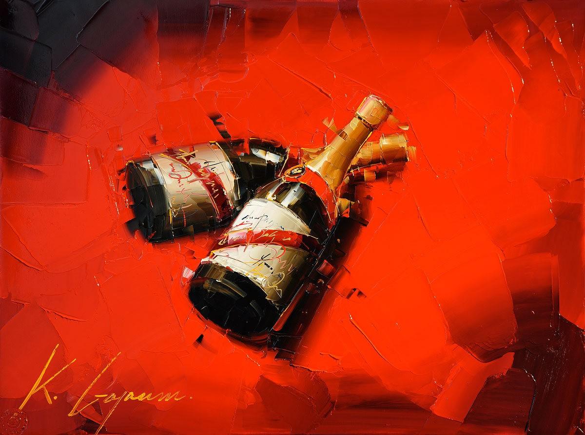 Kal Gajoum油画---酒.船_图1-11