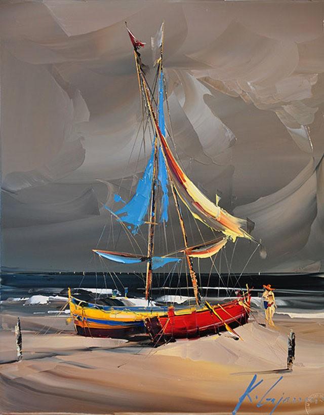 Kal Gajoum油画---酒.船_图1-15