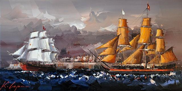 Kal Gajoum油画---酒.船_图1-18