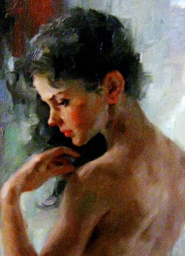 美籍华裔画家---斯蒂芬.潘的油画作品_图1-2