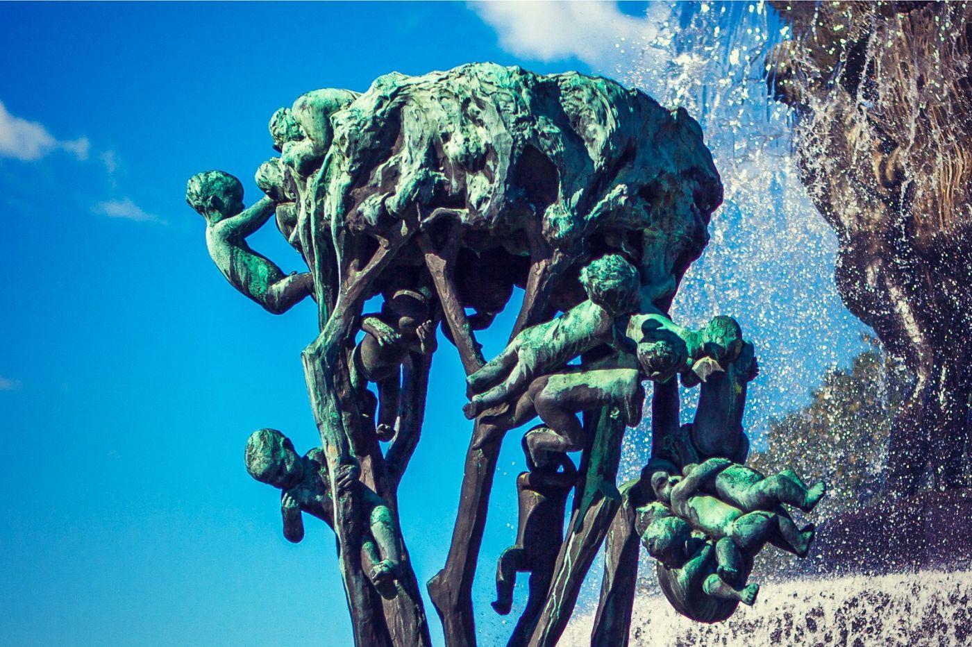 挪威维格兰雕塑公园,风格明显_图1-6