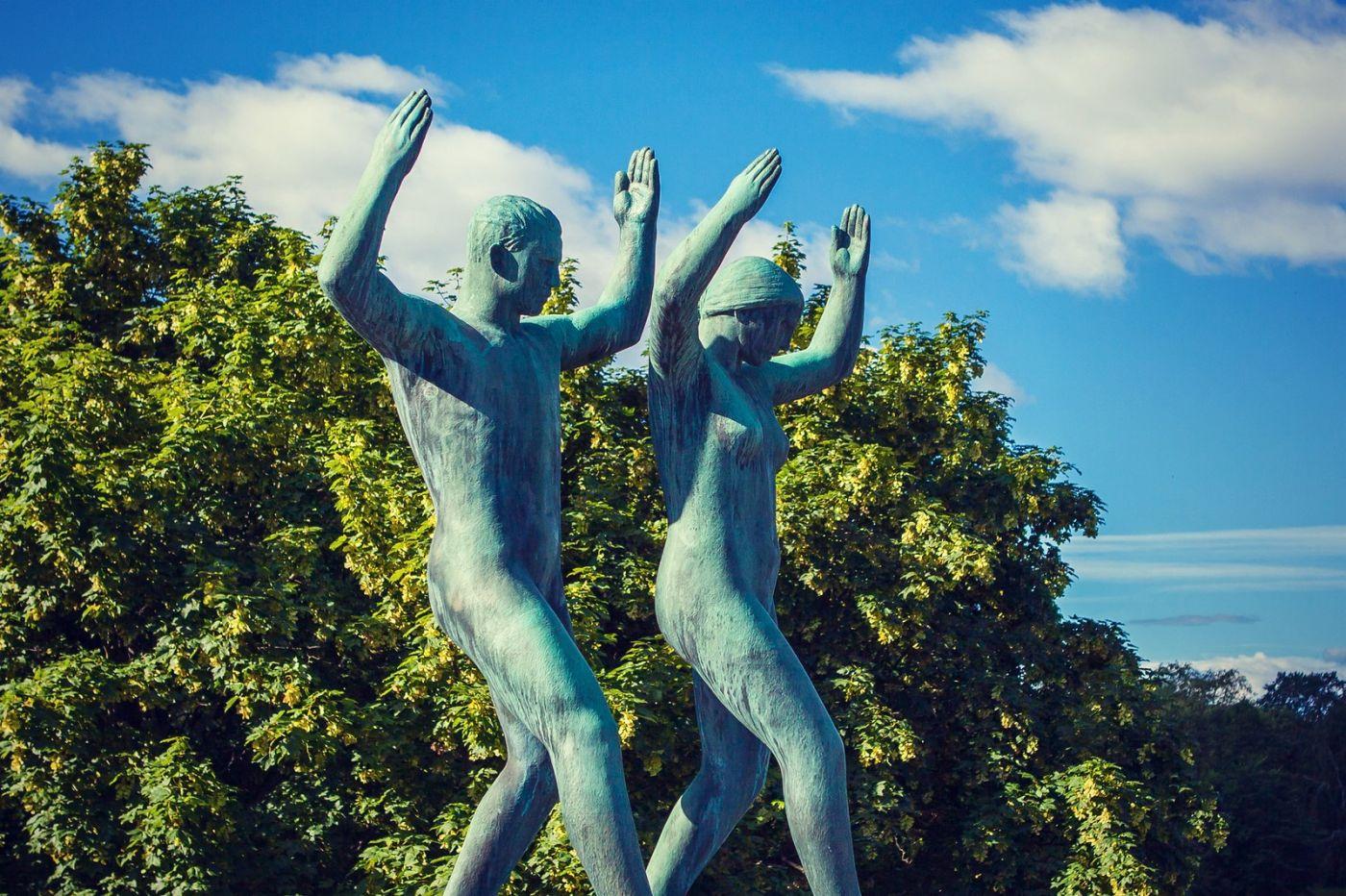 挪威维格兰雕塑公园,风格明显_图1-36