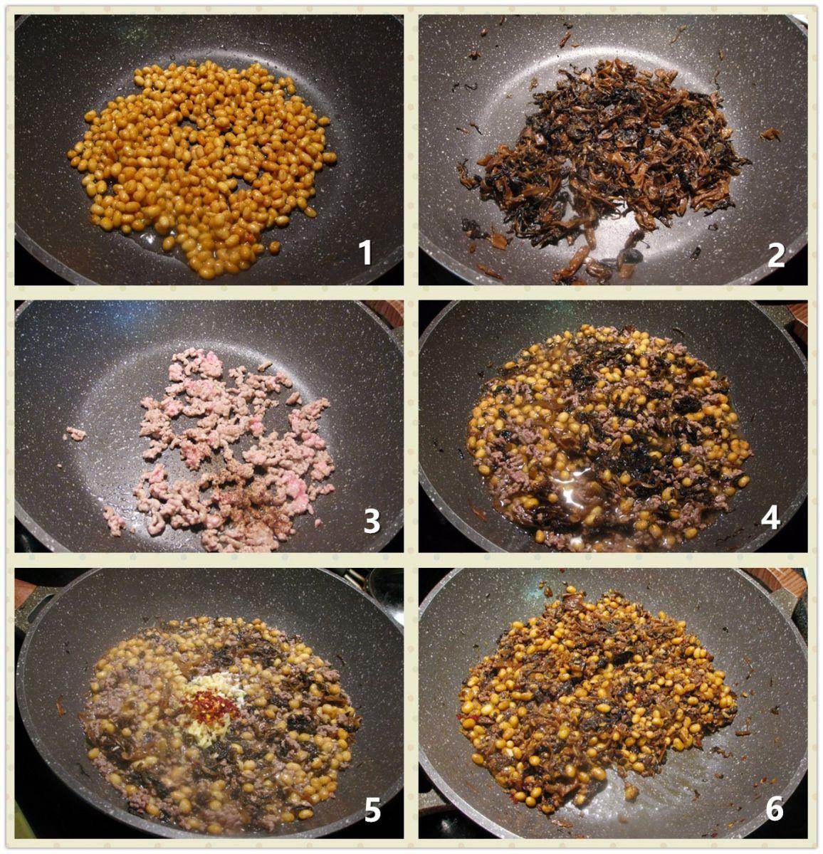 牛肉末梅菜焖黄豆_图1-2