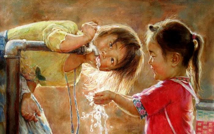 法国画家凯拉.马龙访问中国时的一些作品_图1-1
