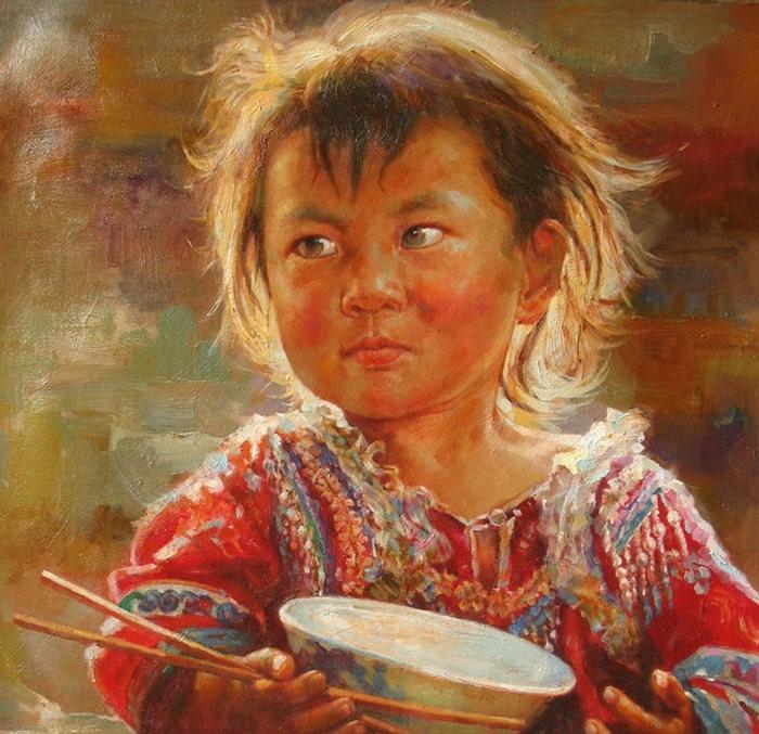 法国画家凯拉.马龙访问中国时的一些作品_图1-2