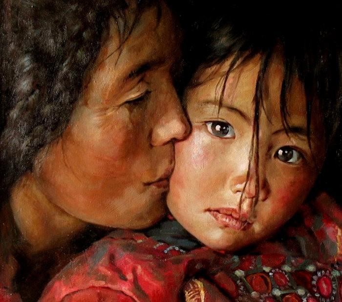 法国画家凯拉.马龙访问中国时的一些作品_图1-3