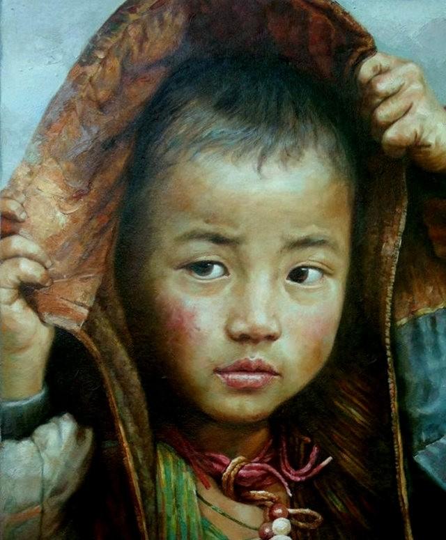 法国画家凯拉.马龙访问中国时的一些作品_图1-4