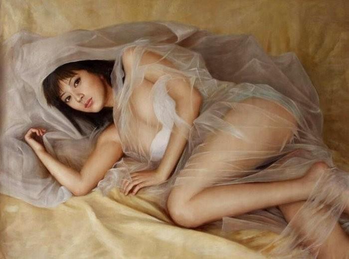 法国画家凯拉.马龙访问中国时的一些作品_图1-9