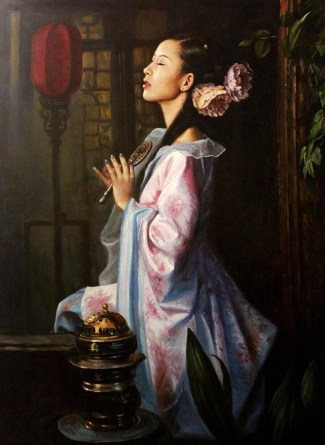 法国画家凯拉.马龙访问中国时的一些作品_图1-12
