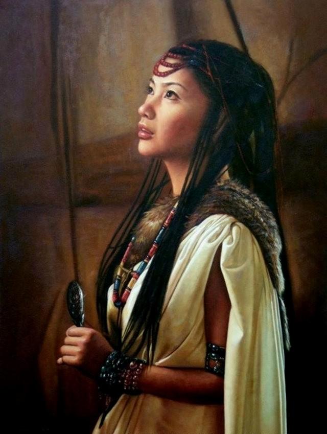 法国画家凯拉.马龙访问中国时的一些作品_图1-13