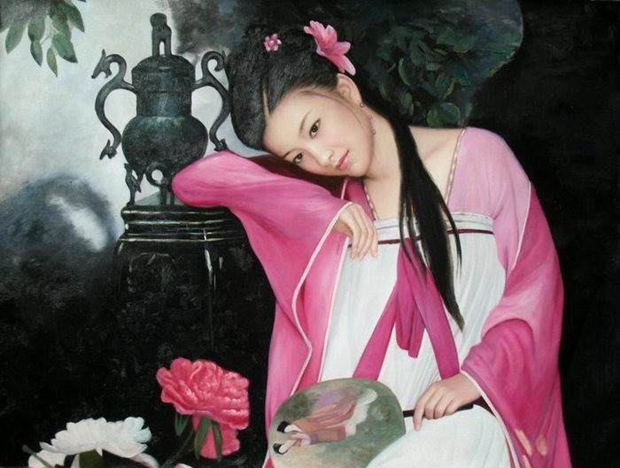 法国画家凯拉.马龙访问中国时的一些作品_图1-16