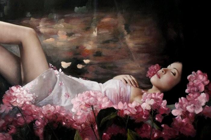 法国画家凯拉.马龙访问中国时的一些作品_图1-17