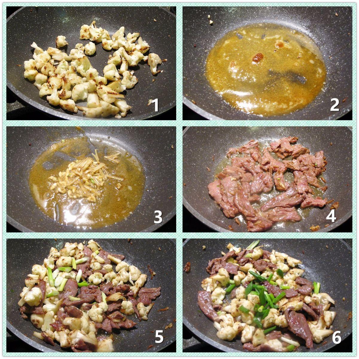 咖喱菜花牛肉片_图1-3