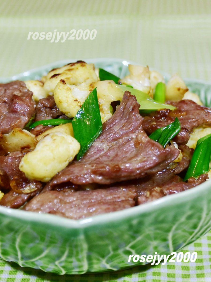 咖喱菜花牛肉片_图1-4