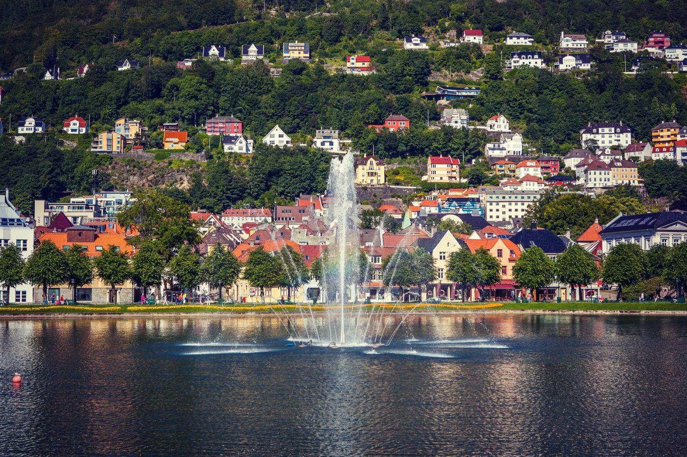 挪威卑尔根市,城市的明信片_图1-23