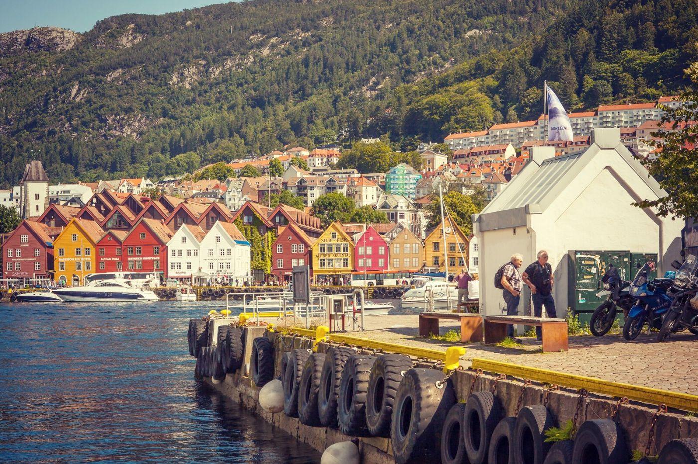挪威卑尔根市,城市的明信片_图1-37