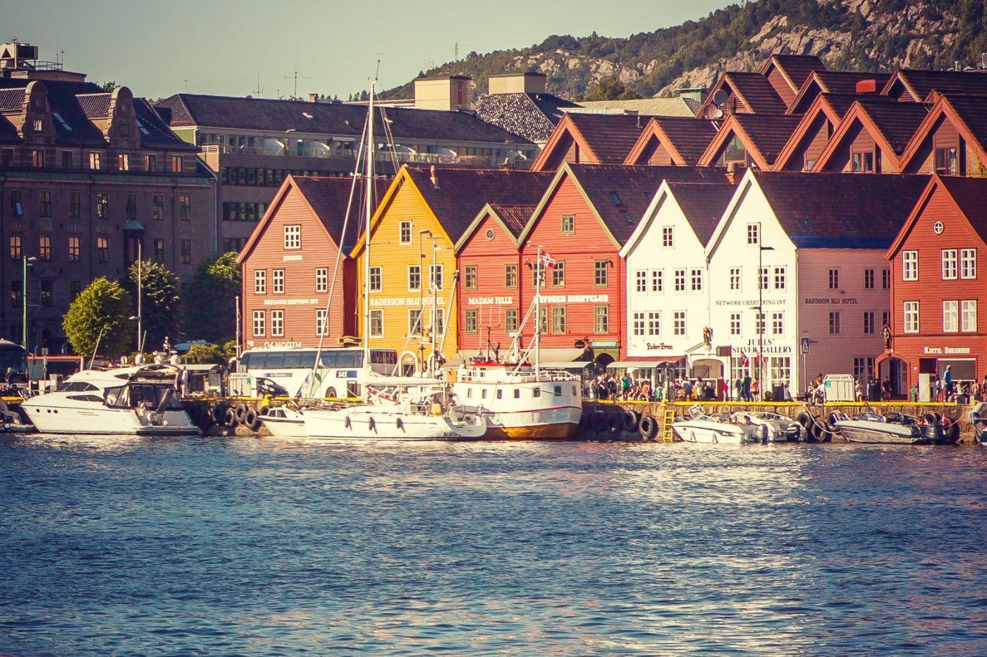 挪威卑尔根市,城市的明信片_图1-38