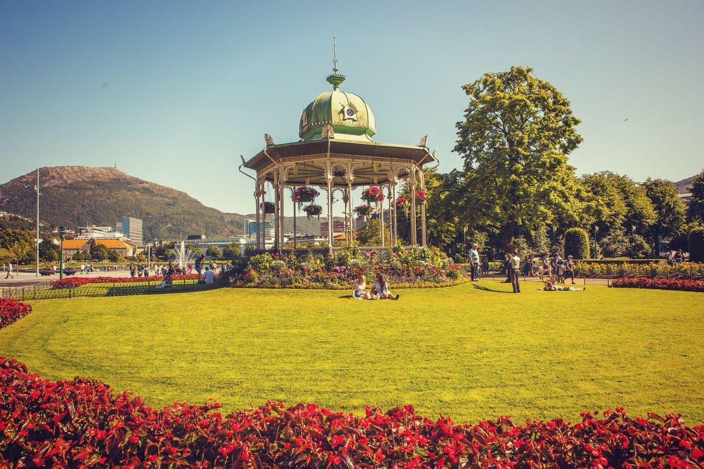 挪威卑尔根市,城市的明信片_图1-16
