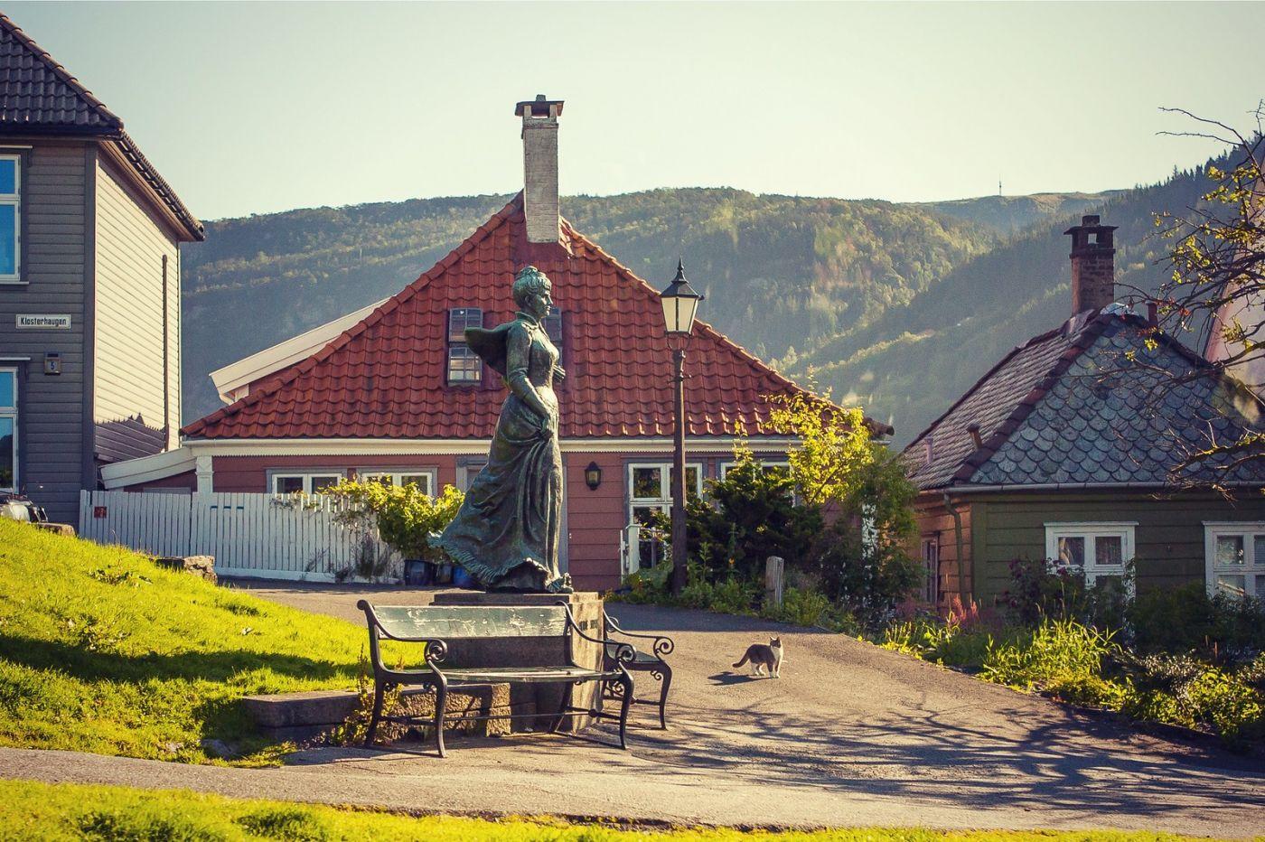 挪威卑尔根市,城市的明信片_图1-10