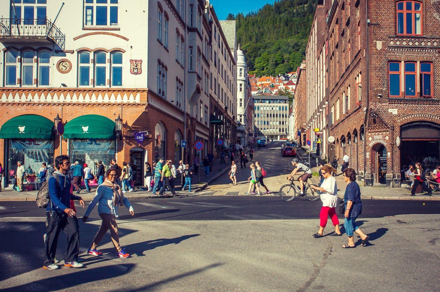 挪威卑尔根市,城市的明信片_图1-6
