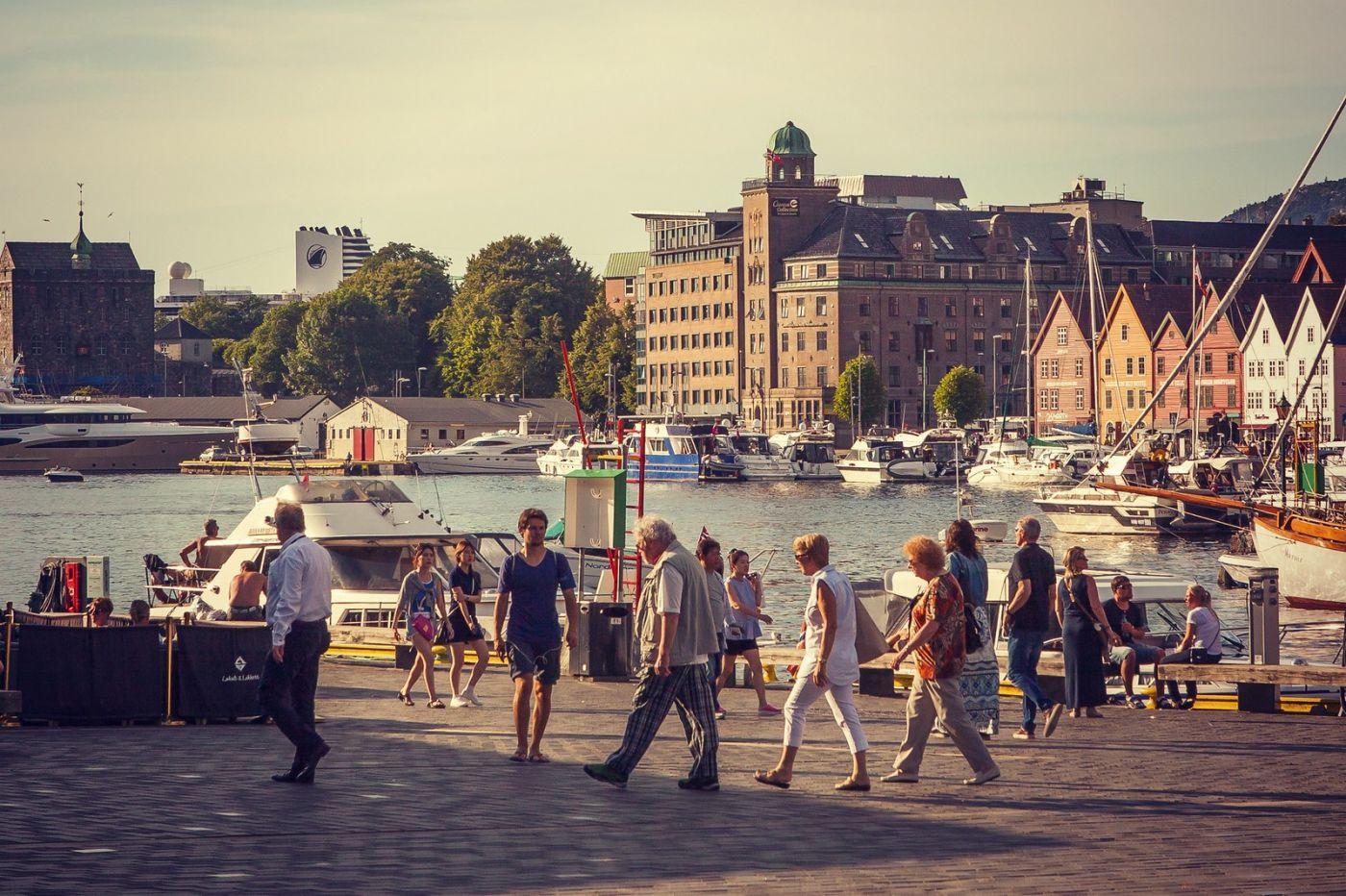挪威卑尔根市,城市的明信片_图1-8