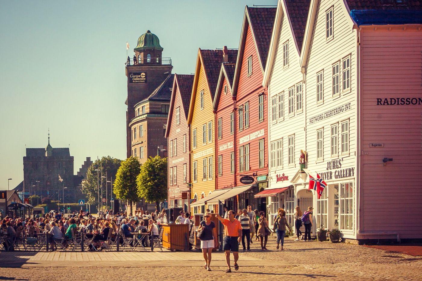 挪威卑尔根市,城市的明信片_图1-3