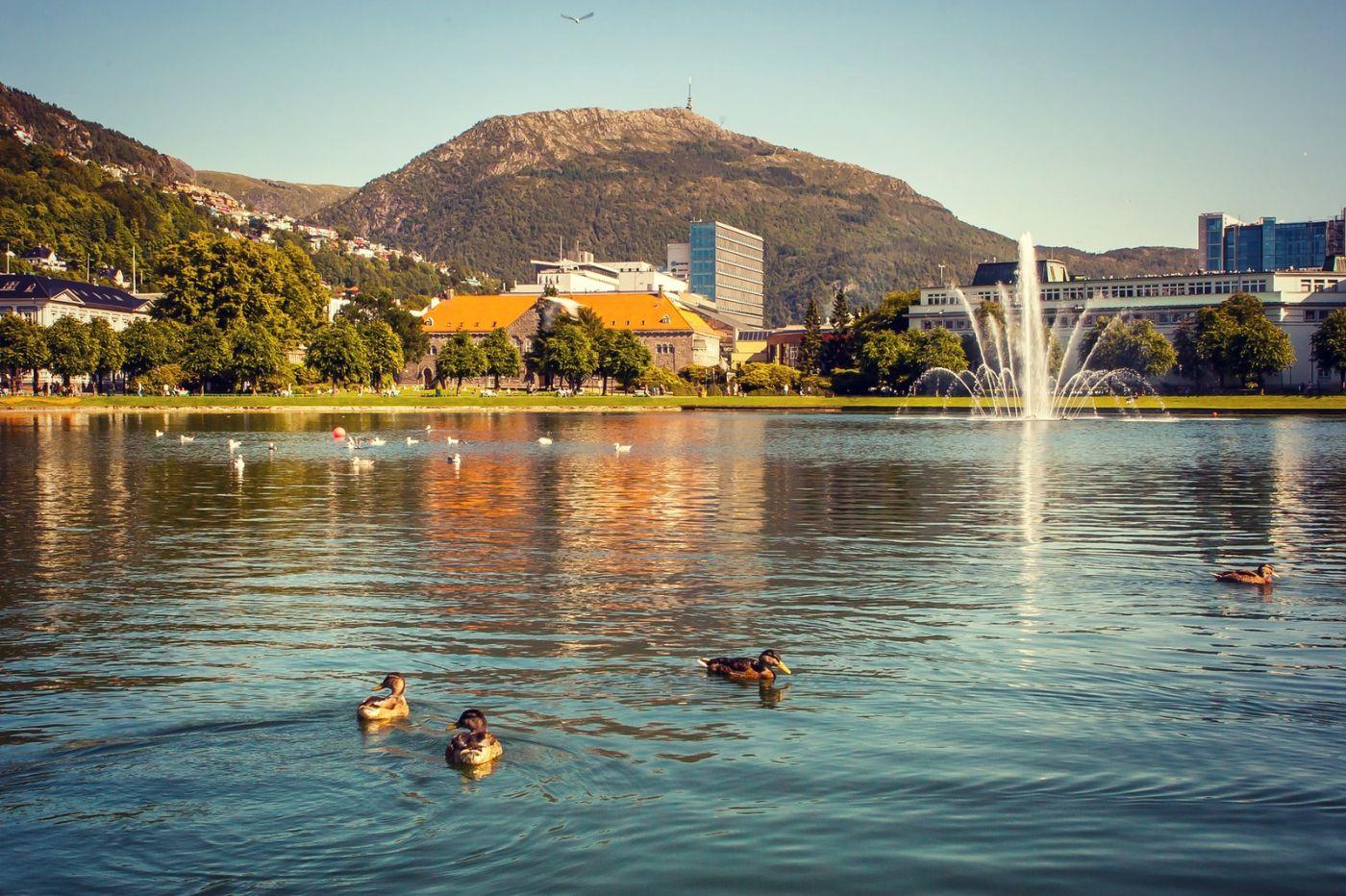 挪威卑尔根市,城市的明信片_图1-1