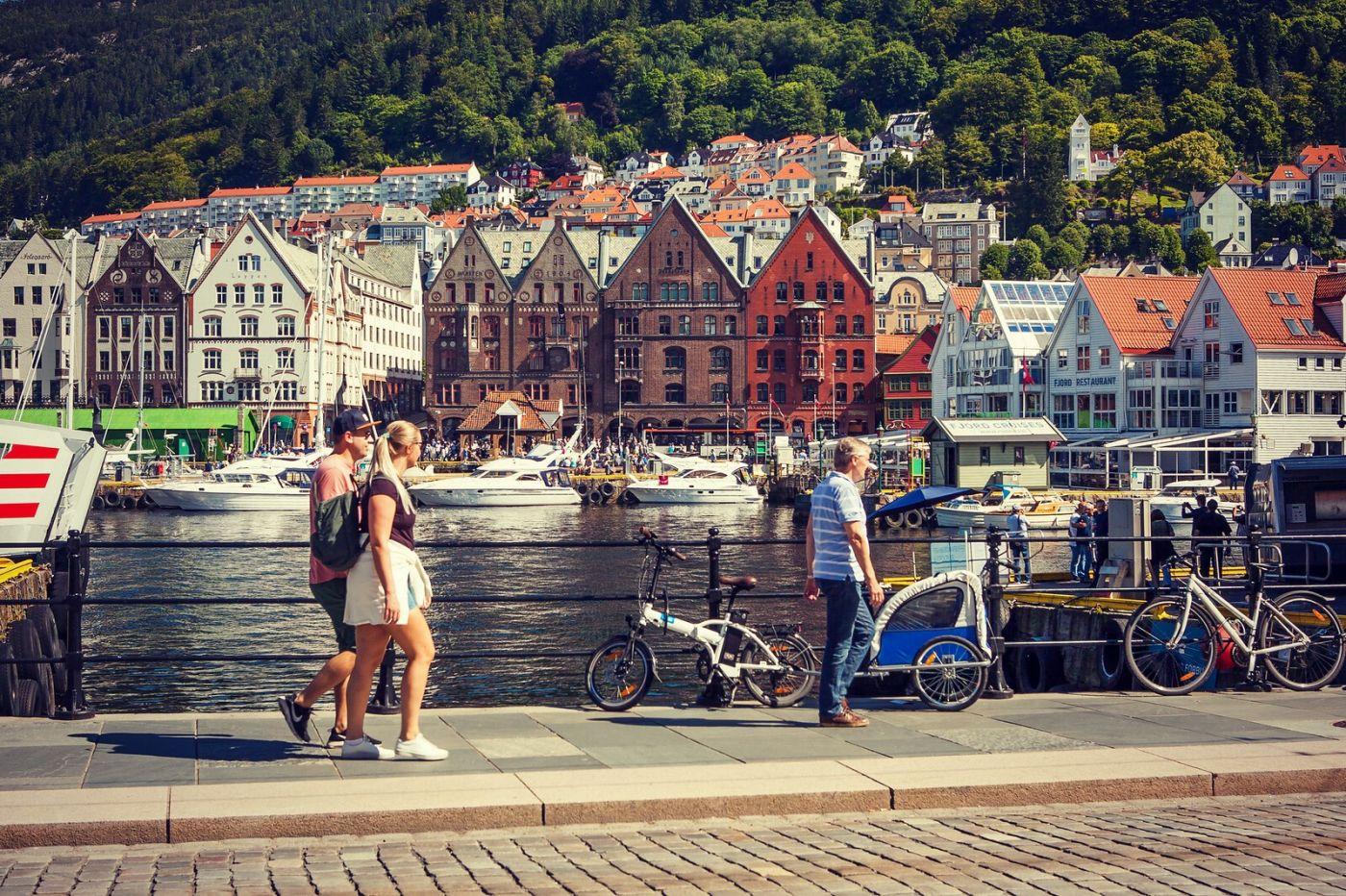 挪威卑尔根市,城市的明信片_图1-32