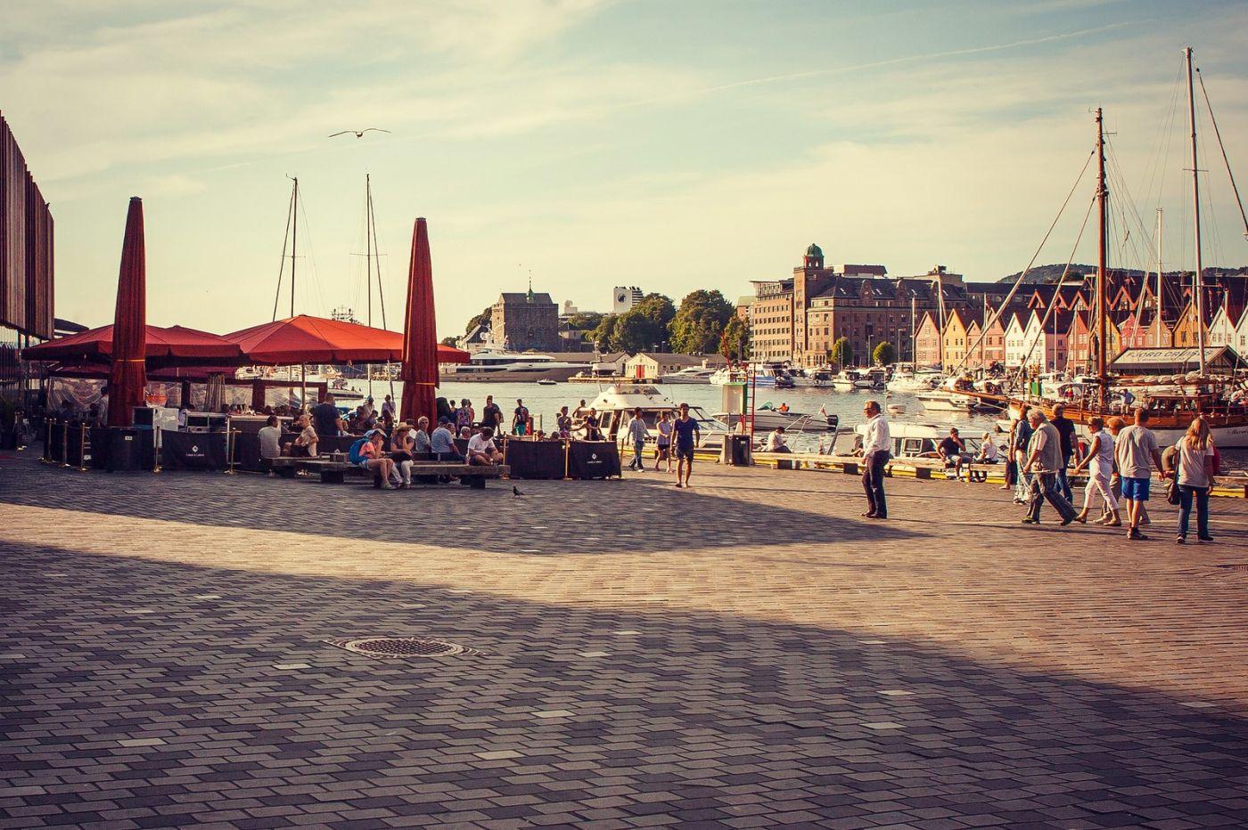 挪威卑尔根市,城市的明信片_图1-30