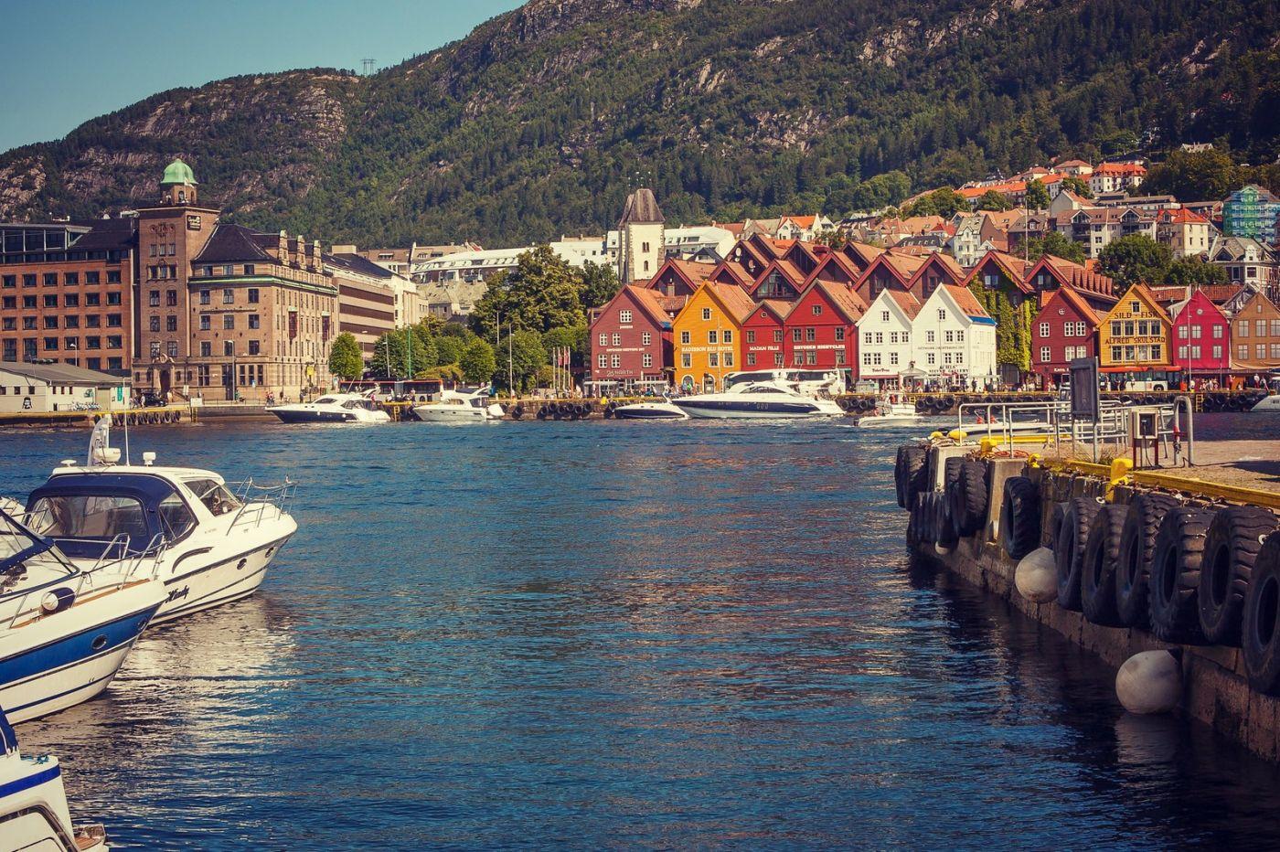挪威卑尔根市,城市的明信片_图1-36