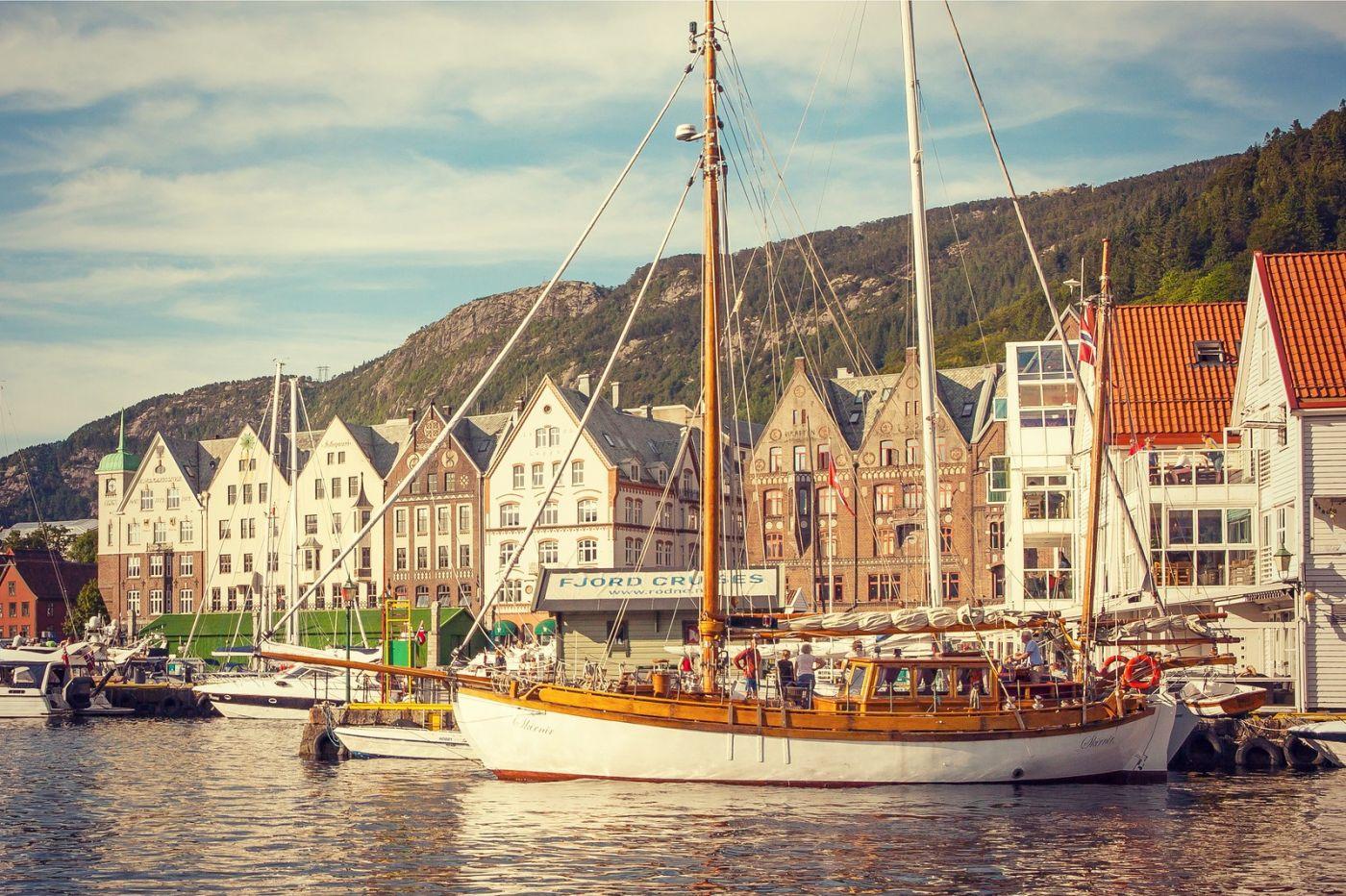 挪威卑尔根市,城市的明信片_图1-31