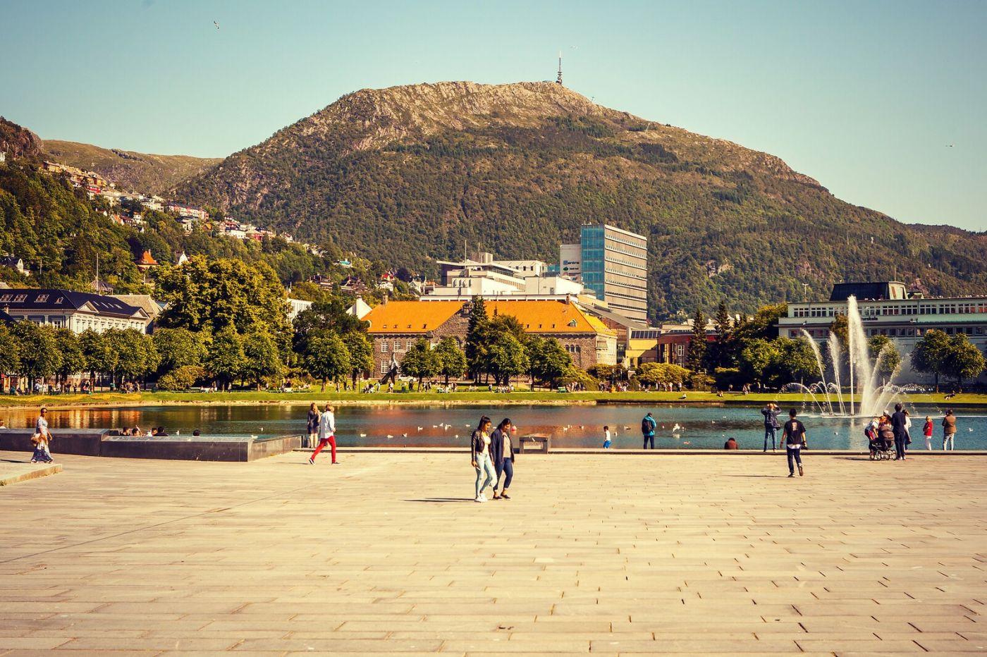 挪威卑尔根市,城市的明信片_图1-35