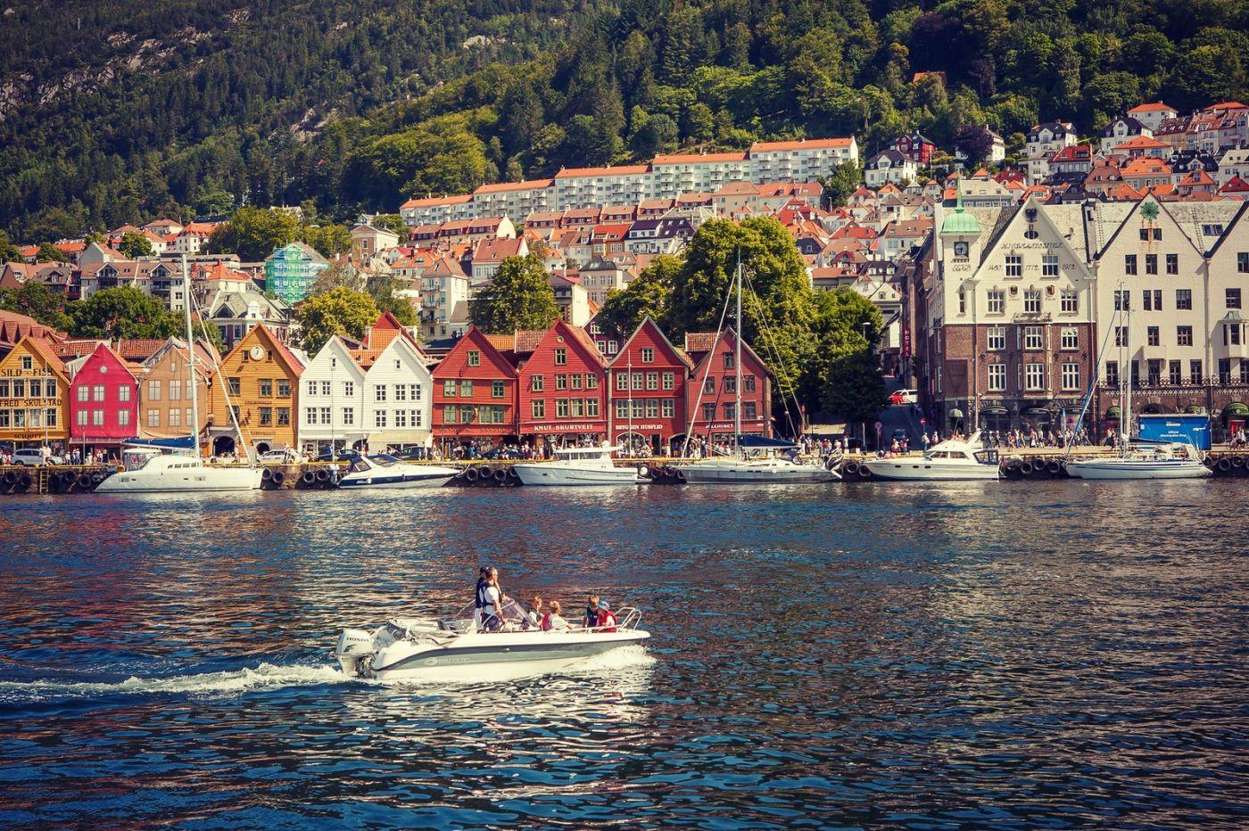 挪威卑尔根市,城市的明信片_图1-34